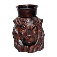 Lion Head Candle Holder