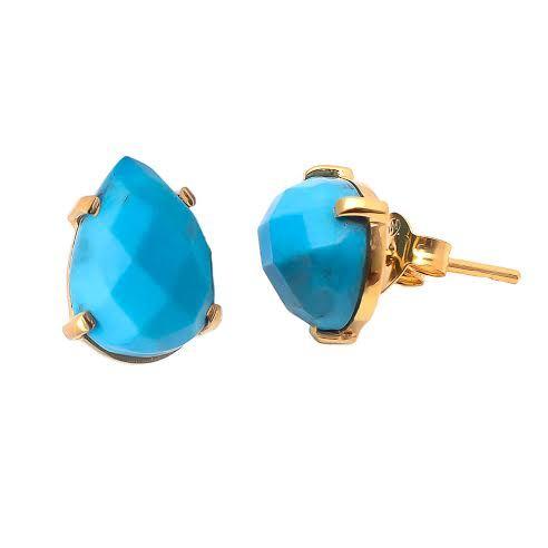 Turquoise Gemstone Ear Stud
