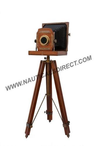 Wooden Film Old Camera Tripod