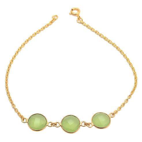 Sea Green Chalcedony Gemstone Bracelete