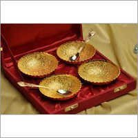 Golden Coated Four Bowl Set