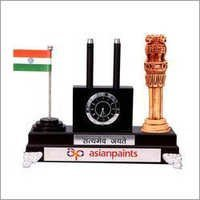 Pen Stand with Flag and Ashoka Pillar