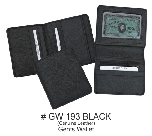 Black Leather Mens Wallet