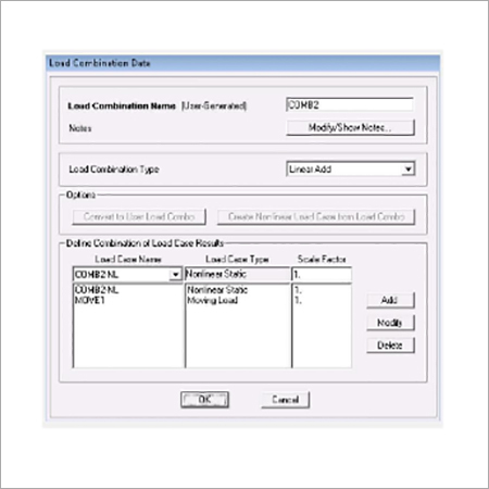 SAP2000 Load Combinations