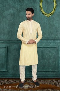 Designer Stylish Men Kurta Pyjamas