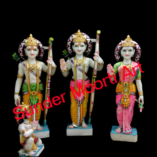 Lord Ram Darbar Marble Statue