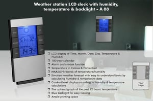 Weather Station LCD Clock