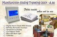 Multi Function Folding Traveling Clock