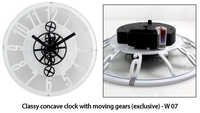 Classy concave clock with moving gears (exclusive)