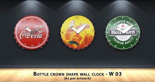 Bottle Crown Shape Wall Clock
