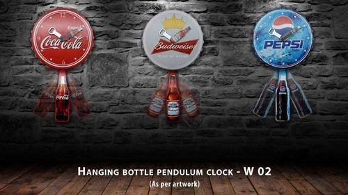 Hanging Bottle Pendulum Clock