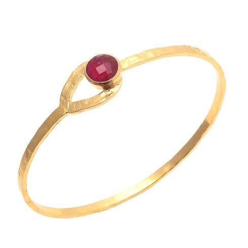 Dyed Ruby Gemstone Bangle
