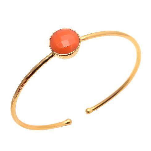 Orange Chalcedony Gemstone Bangle