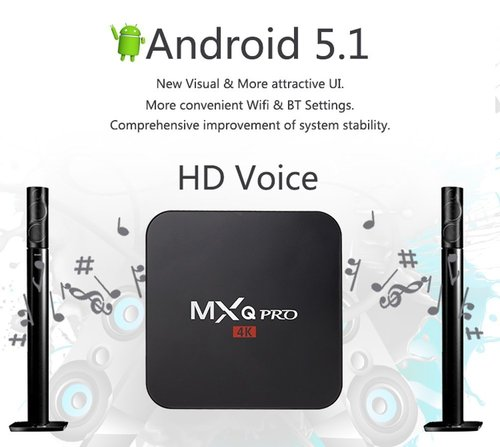 MXQ PRO 4K Android 5.1 Smart TV Box  64 Bit Quad-Core Supports