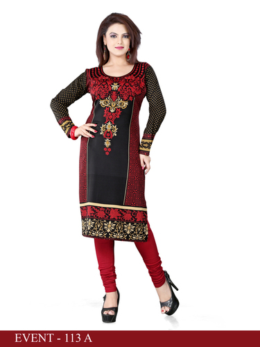 Charming Crepe Straight Kurta