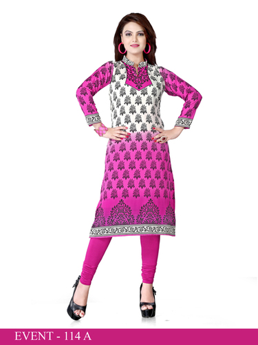 Fascinating Long Crepe Kurti
