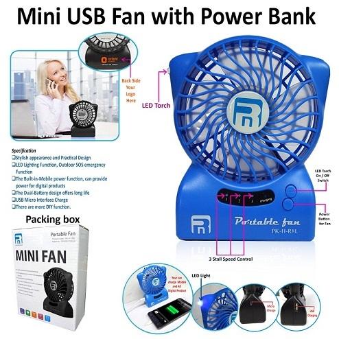 Mini USB Fan with Powerbank