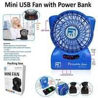 Mini USB Fan with Powerbank