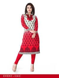 Graceful Long Crepe Kurti