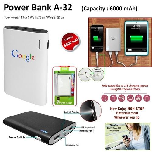 Power Bank A-32 - 6000 MAH