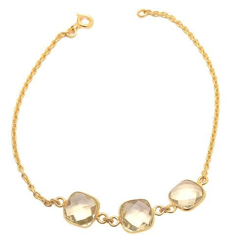 Champagne Quartz Gemstone Bracelete