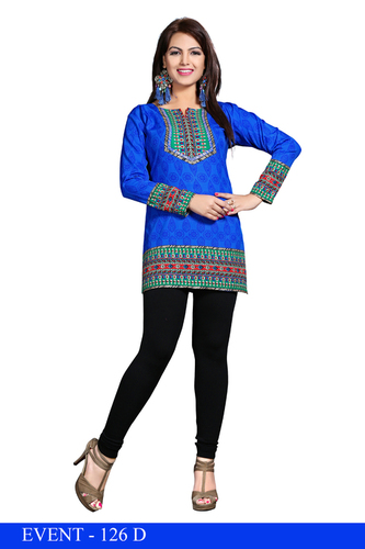 Striking American crepe kurti