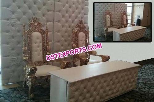 Modern Design Wedding Leather Padded Stage Set