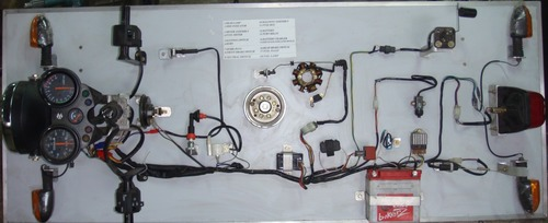 Mock Layout Of A Two Wheeler Wiring Working Model