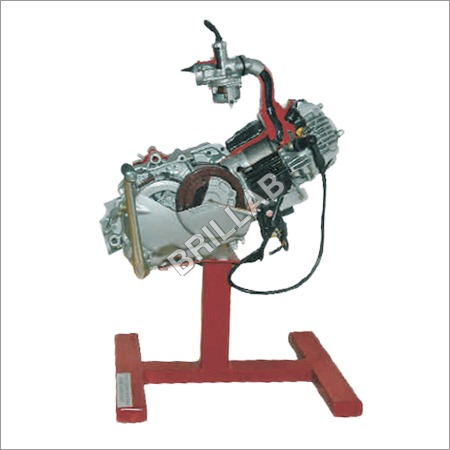 Model Of Four Stroke Single Cylinder Engine Assemb