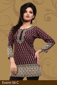 Wonderful crepe printing kurti