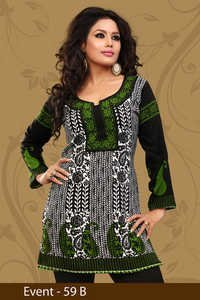 Pleasing Printed Crepe Kurti