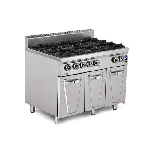 6 Burner Range with cupboard