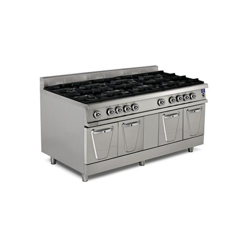 8 Burner Gas Range with Cupboard