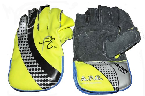 APG Yellow Wicket Keeping Gloves (GAURAV CLASSIC)