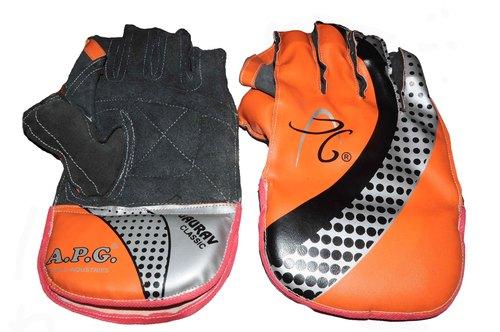 APG Orange Wicket Keeping Gloves (GAURAV CLASSIC)