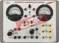 Conversion of Galvanometer to Ammeter