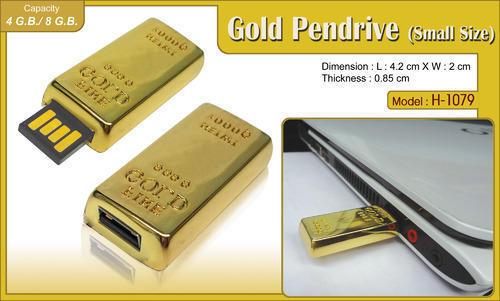 Gold Bar USB Pen Drive ( Small )