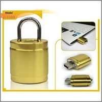Pendrive With Key Lock Golden Finished