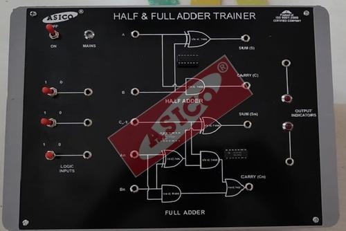 Digital Trainer to verify Half Adder & Full Adder