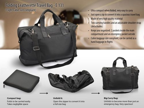 Folding Leatherette Travel Bag