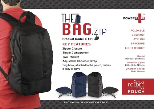 The Bag.zip : Folding travel backpack