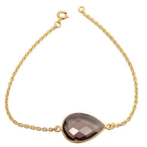 Smoky Topaz Gemstone Bracelete