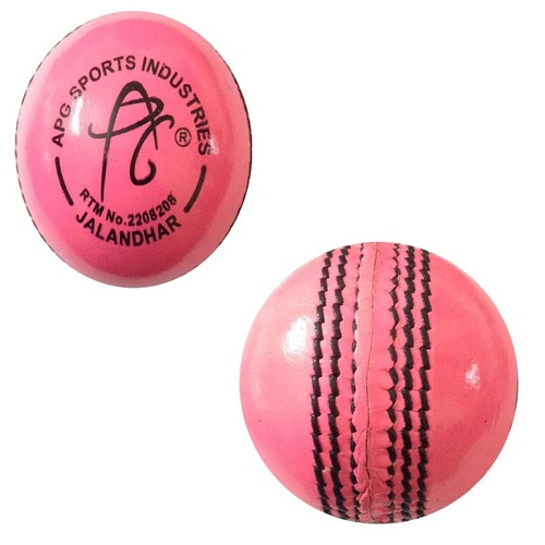 APG Leather Pink Cricket Ball