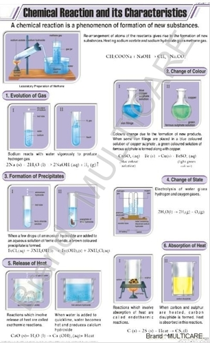 Chemical Reaction & Its Characteristics Chart