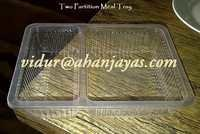 PP 2CP Meal Tray With Lid