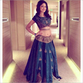 Raw Silk Lehenga Top