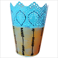 Hand Painted Metal Vase
