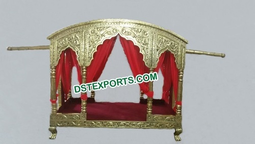 Traditional Indian Wedding Brass Metal Palki Doli