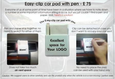 Easy Clip Pad with Pen