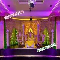 Muslim Nikah Mehndi Stage Decoration Set